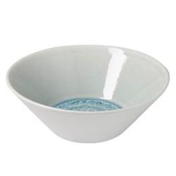 Vuelta Pair of deep individual bowls, 16cm, ocean blue