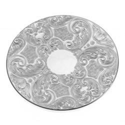 "Drinks mat, 3.5"", silver plate"