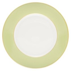 Sous le Soleil Cake plate, 18cm, pastel green with classic matt gold band