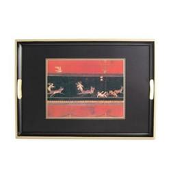 Traditional Range - Pompeii Traditional tray, 39.5 x 28cm, black