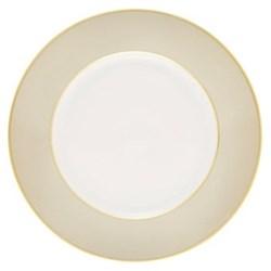 Sous le Soleil Dessert plate, 22cm, pearl grey with classic matt gold band