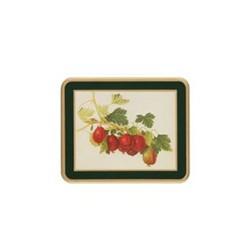Traditional Range - Hooker Fruits Set of 6 coasters, 11 x 9cm, bottle green