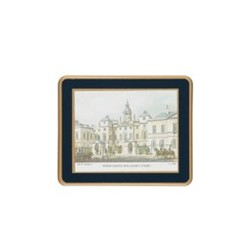 Traditional Range - Shepherd's London Set of 6 coasters, 11 x 9cm, Oxford blue