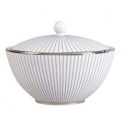 Pin Stripe Covered sugar bowl