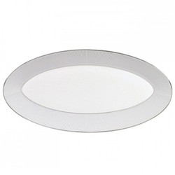 Pin Stripe Oval platter, 45 x 24.5cm