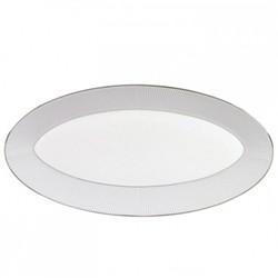 Pin Stripe Oval platter, 39 x 21.5cm