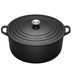 Signature Cast Iron Round casserole, 20cm - 2.4 litre, satin black