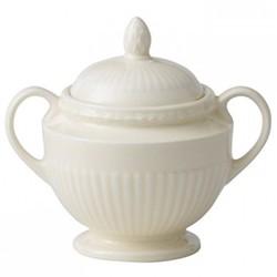 Edme Covered sugar bowl, 8cm, cream
