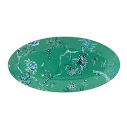 Chinoiserie Green Oval platter, 45 x 24.5cm