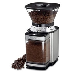 DBM8U Burr coffee grinder, brushed stainless steel