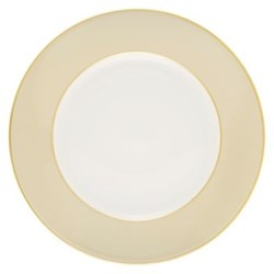 Sous le Soleil Charger plate, 30cm, mastic with classic matt gold band