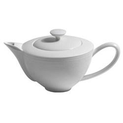 Hemisphere Teapot fully porcelain, 0.9 litre, white
