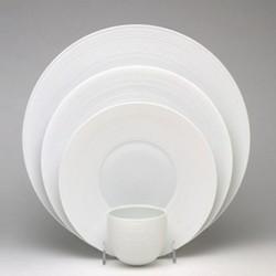 Hemisphere Hollow dish with rim, 39cm, white