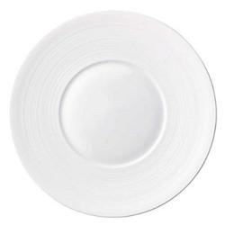 Hemisphere Flat dish with rim, 39.5cm, white