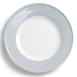 Solid Colour Plate with rim, 26cm, light grey