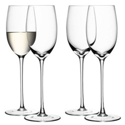 Wine Set of 4 white wine glasses, 340ml, clear