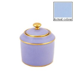 Sous le Soleil Sugar bowl straight sided, 20cl - 6 cup, ice blue with classic matt gold band