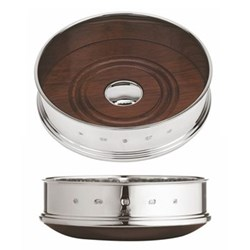"""Chateau series straight Bottle coaster, 3.5"""", sterling silver"""
