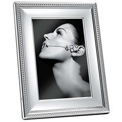 "Perles Photograph frame, 18 x 24cm (7 x 9 1/2""), Christofle silver"