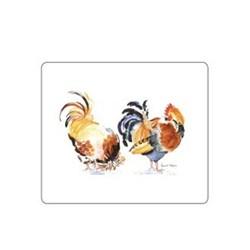 Melamine Range - Chicken Groups Set of 6 tablemats, 24 x 20cm, white