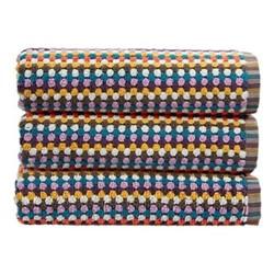 Carnaby Stripe Pair of bath sheets, 90 x 165cm, multi
