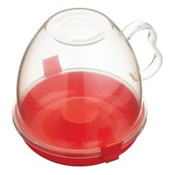 Popcorn maker, 1.1 litre, clear/red