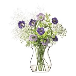 Flower Open posy vase, H23cm, clear
