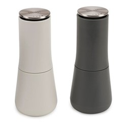 Milltop Salt and pepper set, H7 x W3.2 x D3.2cm, grey & white
