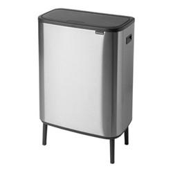 Bo Hi touch bin, 30 litre, matt steel fingerprint proof