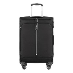 Popsoda Spinner expandable suitcase, 66 x 44 x 28/31cm, black