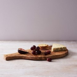 Kew Serving board with handle, L42cm x W20cm, olive wood