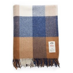 Wr81 Lambswool throw, L183 x W142cm, check