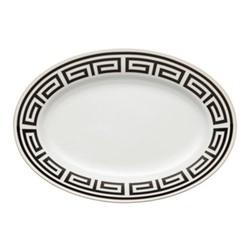 Labirinto Oval platter, 34cm, nero