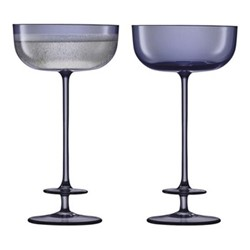 Champagne Theatre Pair of champagne saucers, 210ml, midnight blue