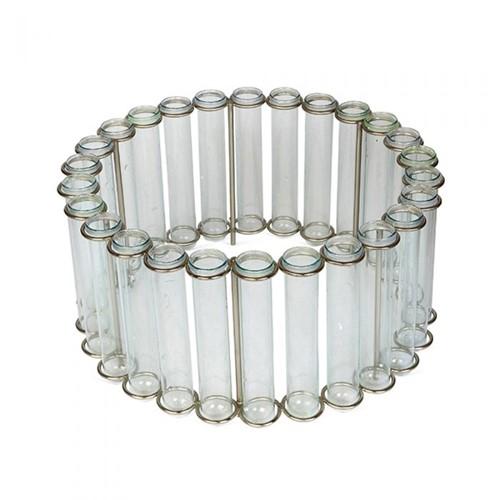 Circular Test Tube Vase, H14.5 x D31cm/tube D2.5cm