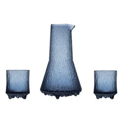 Ultima Thule Carafe and pair of water glasses, 50cl/2 x 20cl, rain