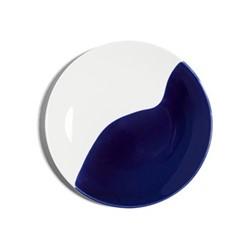 Dip Bread plate, Dia16cm, cobalt/cream
