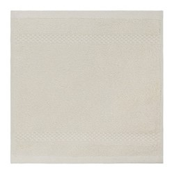 Egyptian Cotton Set of 3 face cloths, 30 x 30cm, ivory