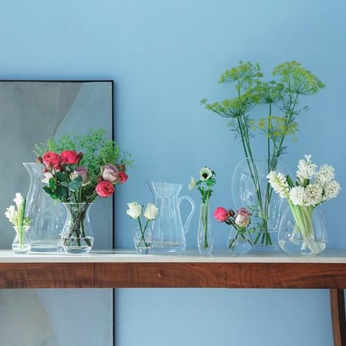 Flower Posy vase, 17.5cm, clear