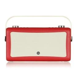 Hepburn Mk II DAB radio, H17 x W31 x D9cm, red