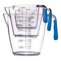 3 piece measuring jug set, blue