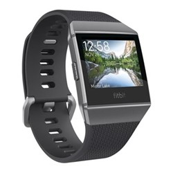 Fitbit Ionic Smart watch with heart rate monitor, W10.3 x D4.8cm, charcoal/smoke grey