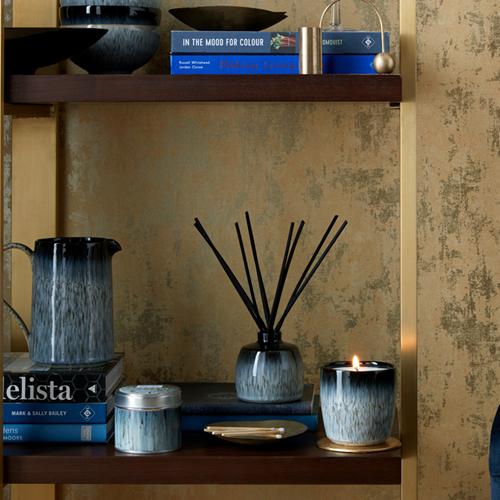 Denby Home Fragrance Halo Candle Pot, Black