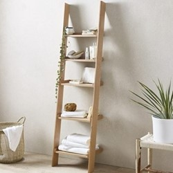 Ladder shelf, 180 x 48 x 35cm, oak