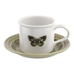 Botanic Garden Harmony Breakfast cup and saucer, moss green