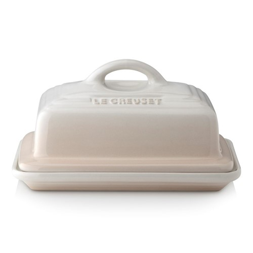Stoneware Butter dish, 17 x 13 x 9cm, meringue
