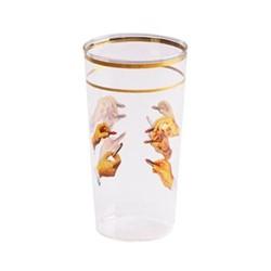 Toiletpaper - Lipsticks Set of 4 glasses, H13 x W7 x Dia7cm, multi