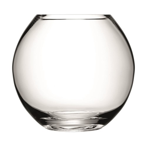 Flower Round bouquet vase, 22cm, clear