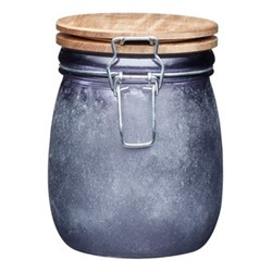 Industrial Kitchen Storage jar, 11 x 13.5cm, acacia glass