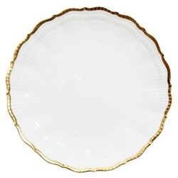 Corail Gold Set of 6 dinner plates, 25.5cm